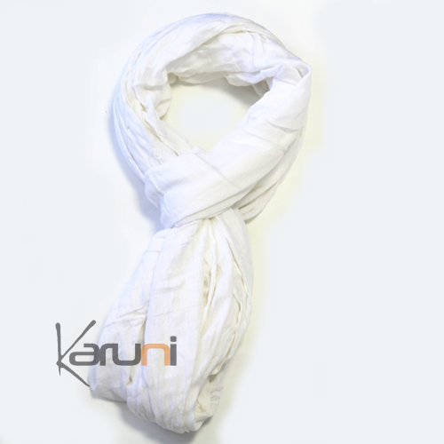 Cheche Touareg Scarf Scarf Cotton Man / Woman White