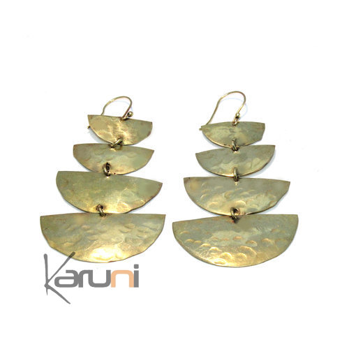 Fulani Bronze Pendants Earrings