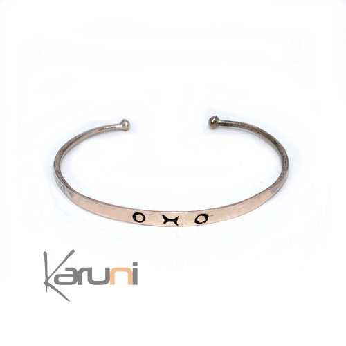 Mauritanian Mix Silver and copper Bracelet 3002