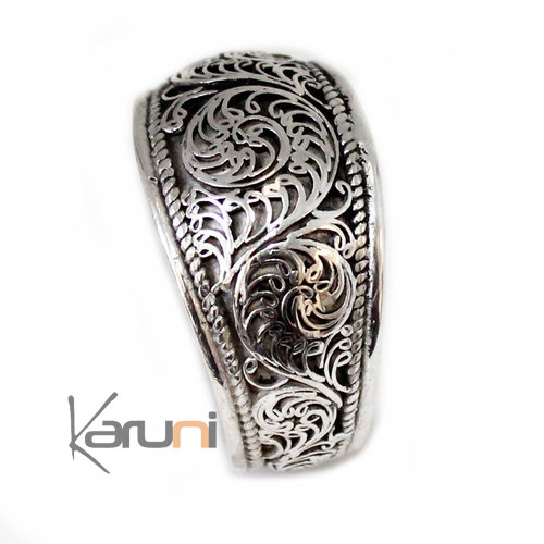 Sterling Silver filigree Ring  1005