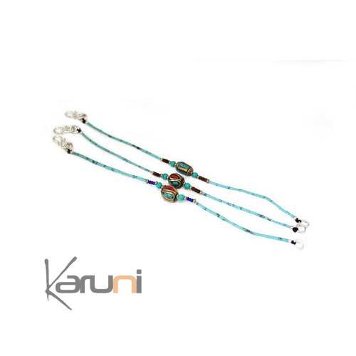 Bracelet beads Mili Turquoise Coral Root