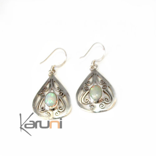 Nepalese Fancy Labradorit Silver Earrings 1022