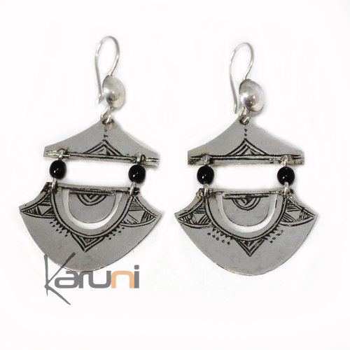 Berber Earrings Engraved Silver 4003