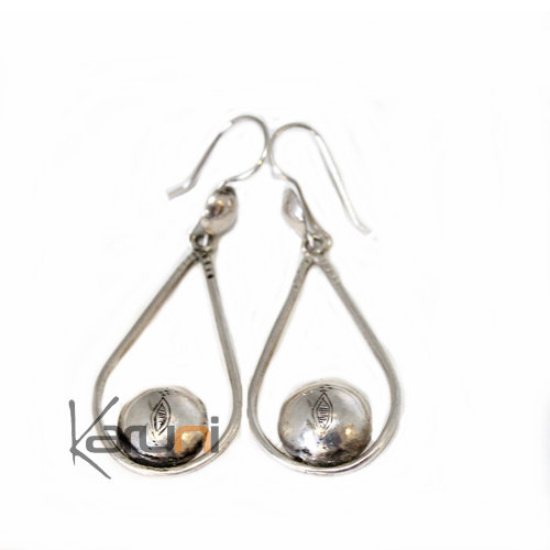 Ethnic Earrings Sterling Silver Jewelry Drops Tuareg 4069