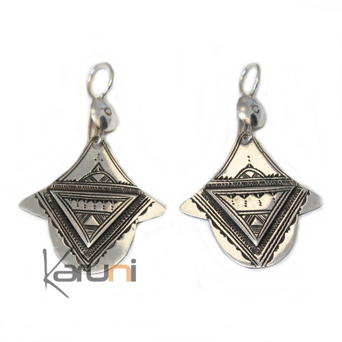 960 Sterling Silver Fancy Earrings 5030