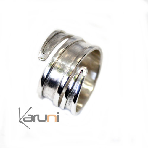 Fancy Silver Ring Adjustable 09