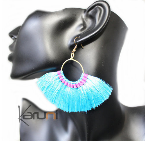 Blue Pink Yarns Fancy Earrings 4025
