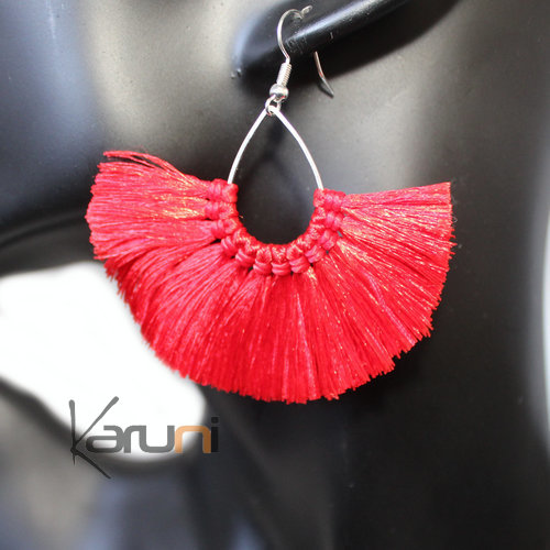 Red Yarns Fancy Earrings 4030
