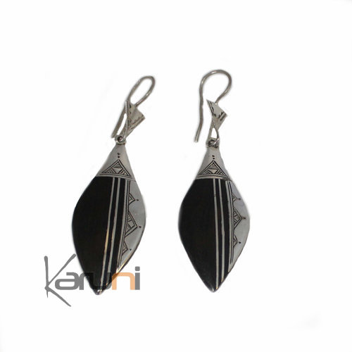 Ethnic Earrings Sterling Silver Jewelry Ebony 5036