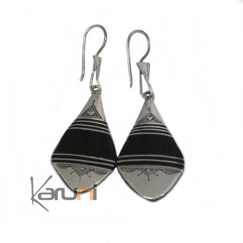 Ethnic Earrings Sterling Silver Jewelry Ebony 5037