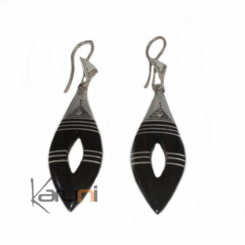 Ethnic Earrings Sterling Silver Jewelry Ebony 5038