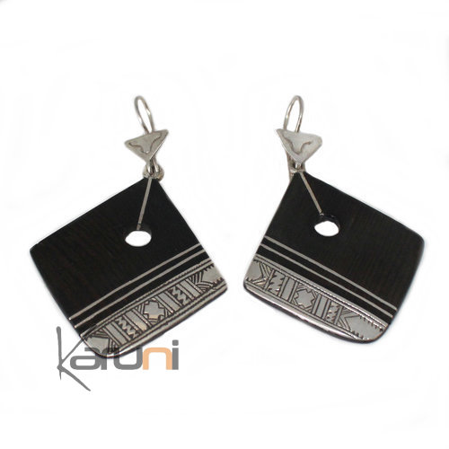 Ethnic Earrings Sterling Silver Jewelry Ebony 5039