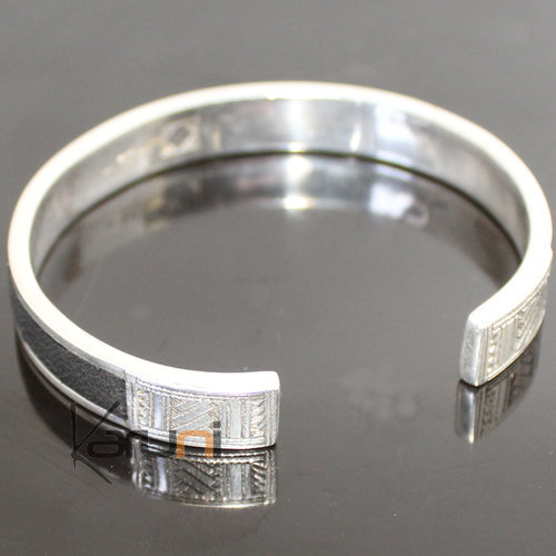 Sterling Silver Jewelry Leather Silver bracelet 3040
