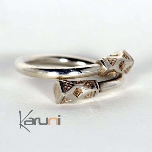 Silver ring cross nail - KARUNI