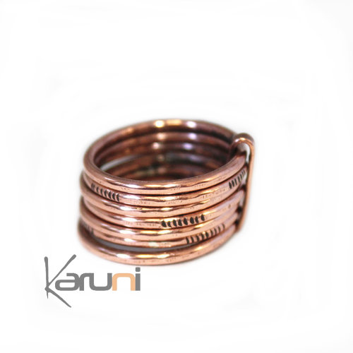 Fancy Copper Weekly Ring 1072