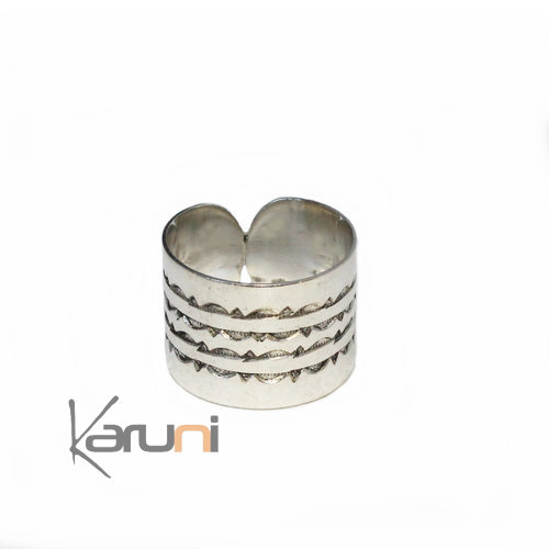 Reversible Ethnic Sterling Silver Ring 1079
