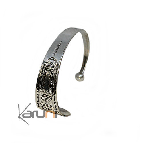 Ethnic Bracelet Sterling Silver Engraved 3044