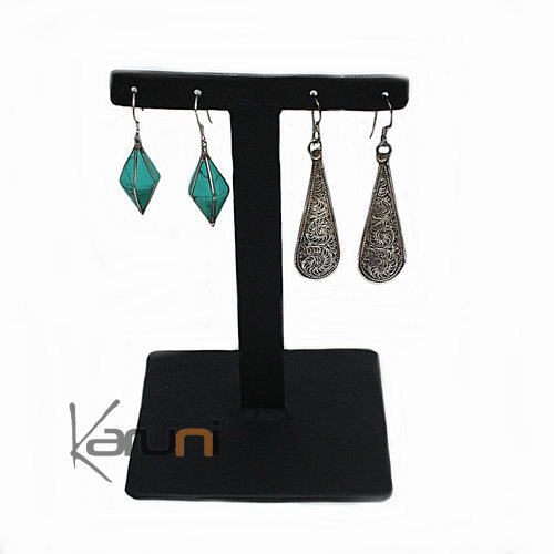 Double T Metal Recycled Earrings Holder
