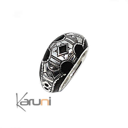 Ebony Silver Ring Amelsalhi