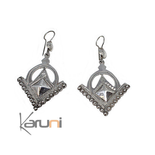 Ethnic Earrings Sterling Silver Berber 5050