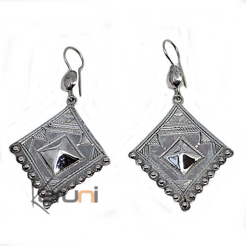 Ethnic Earrings Sterling Silver Berber 5051