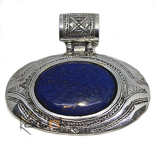 Pendant Sterling Silver Ethnic Jewelry Blue Lapis Lazuli 05
