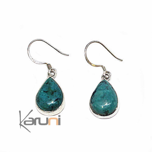 Ethnic Earrings Silver 925 Turquoise 5052