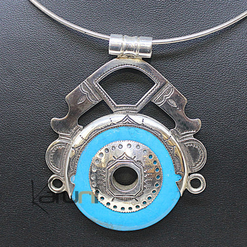 Pendant Necklace Sterling Silver Turquoise 7043