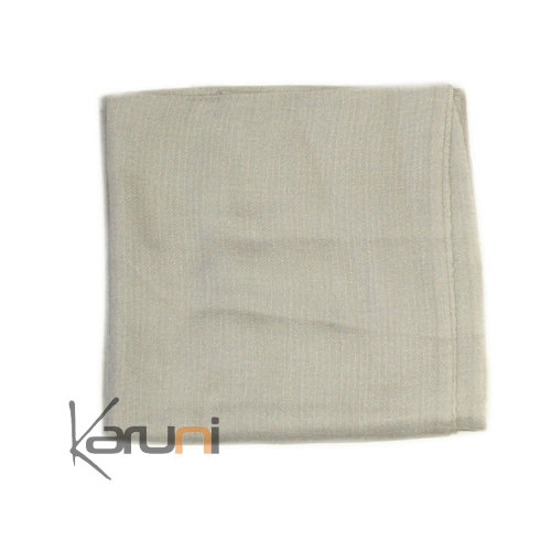 Light Grey Pashmina Cashmere Scarf