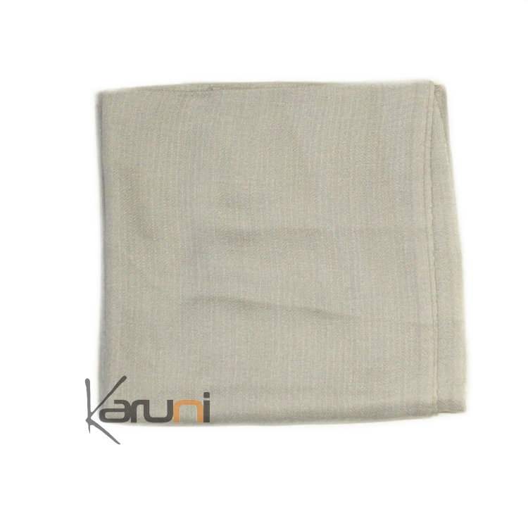 cbfa9c662 Light Grey Pashmina Cashmere Scarf. Light grey cachemire scarf