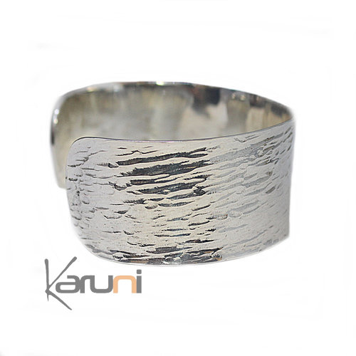 Sterling SilverHammered Bracelet Design KARUNI 3058