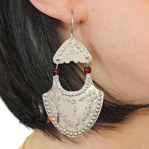 Exclusive Silver Earrings Engraved 5056
