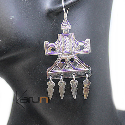 Ethnic Earrings Sterling Silver 5058