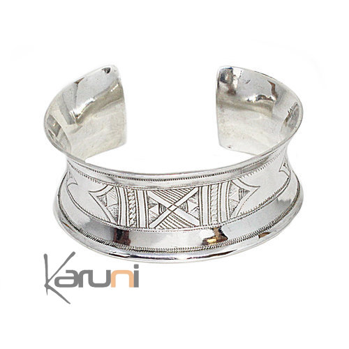 Curved Sterling Silver Cuff 3066