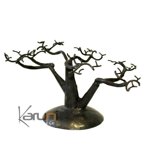 Jewelry Tree-holder recycled metal Madagascar baobab 01