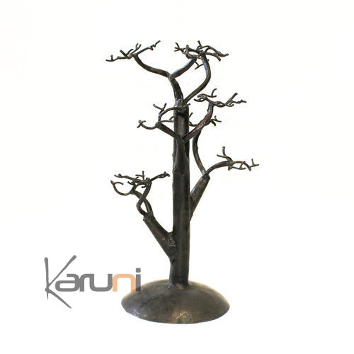 Jewelry Tree-holder recycled metal Madagascar baobab 02