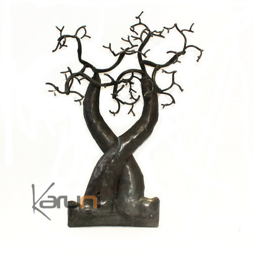 Jewelry Tree-holder recycled metal Madagascar baobab 03