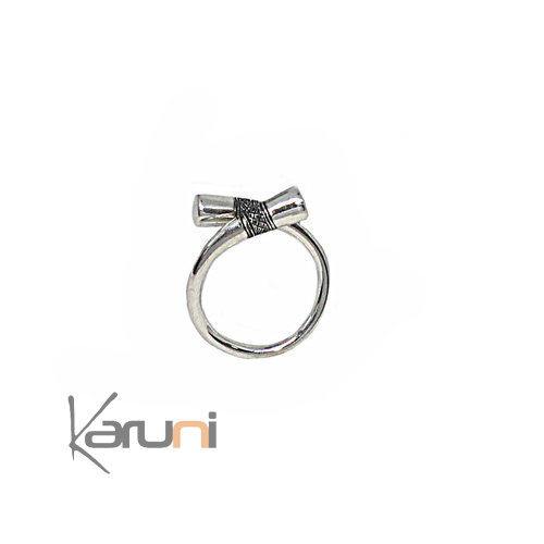 Adjustable Cross Sterling Silver Ring 1098