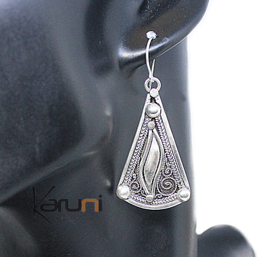 800 Sterling Silver Berber Earrings 5071