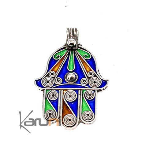 940 Sterling Silver Lucky Charm Pendant Fatma Hand 7045