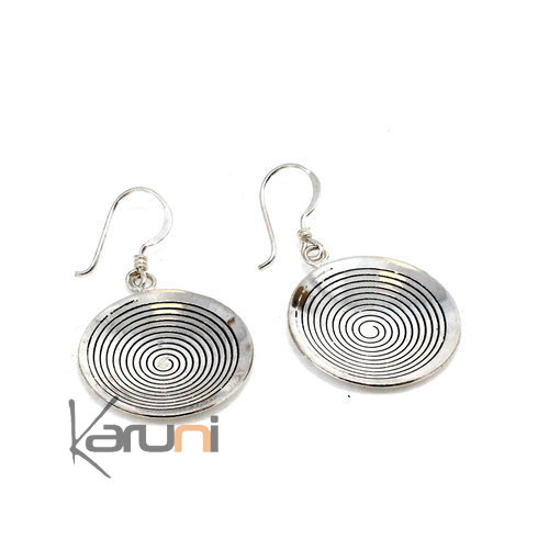 800 Sterling Silver Berber Earrings N°5076