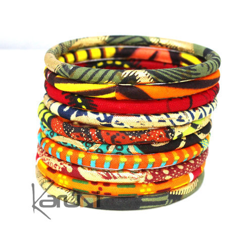 Multicolored Mix Golden Wax Bracelets