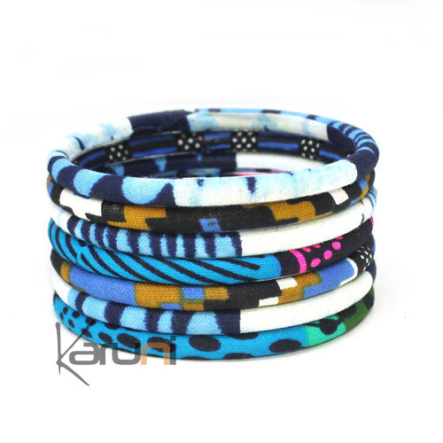 Mix Blue Wax Bracelets