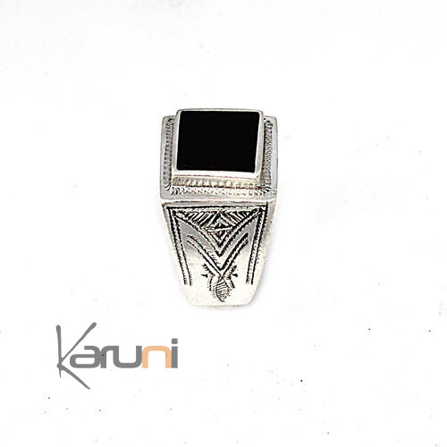 Ebony Sterling Silver Ring 1105