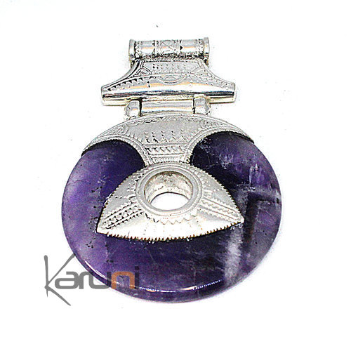 Sterling Silver Pendant Amethyst 7052