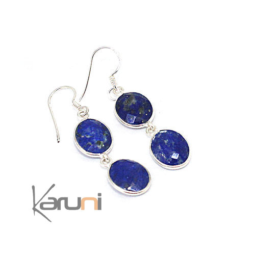 Sterling silver Lapis Lazuli Earrings 5092