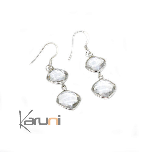 Sterling silver Glass Earrings 5097