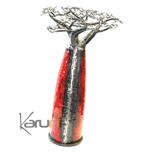 Jewelry Tree Baobab design jewelry holder 85 cm recycled metal Madagascar