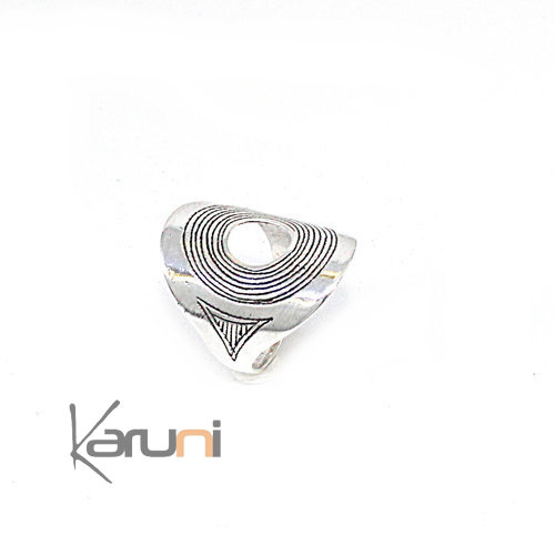 Fancy Sterling Silver Ring Spiral 1108