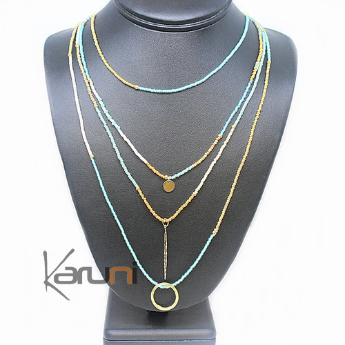 Gold Plated Pearls Necklace 7048